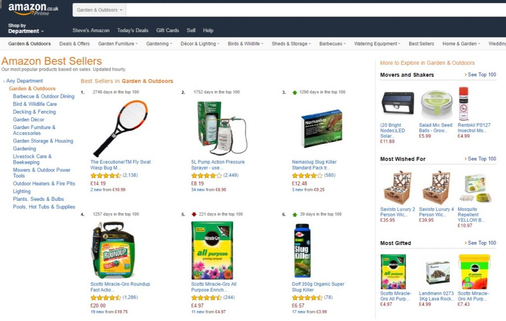 Amazonuk Best Sellers The most popular items in Garden Outdoors